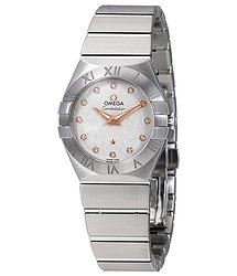 Omega Constellation Silver Diamond Dial Ladies Watch