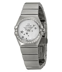 Omega Constellation Star Mother of Pearl Dial Stainless Steel Ladies Watch 12315246005003