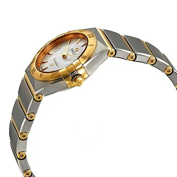 Купить часы Omega Constellation White Mother of Pearl Dial Ladies Steel and 18kt Yellow Gold Watch  в ломбарде швейцарских часов