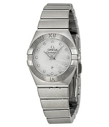Omega Constellation White Mother of Pearl Dial Ladies Watch 12310246055003