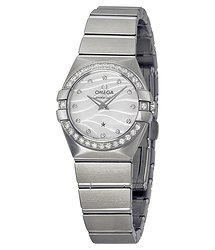Omega Constellation White Mother of Pearl Dial Stainless Steel Ladies Watch