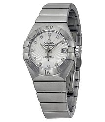 Omega Constellation White Mother of Pearl Steel Ladies Watch