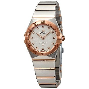 Купить часы Omega Constellation White Silvery Dial Ladies Steel and 18kt Sedna Gold Watch  в ломбарде швейцарских часов