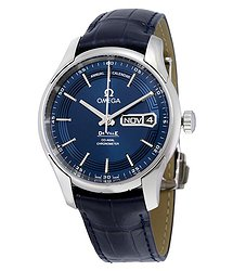 Omega De Ville Annual Calendar Automatic Chronometer Blue Dial Men's Watch