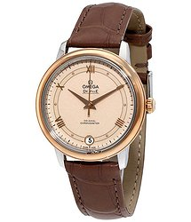 Omega De Ville Automatic Beige Dial Ladies Watch