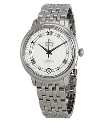 Omega De Ville Automatic Diamond Silver Dial Ladies Watch