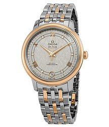 Omega De Ville Automatic Ivory Silvery Diamond Dial Ladies Watch