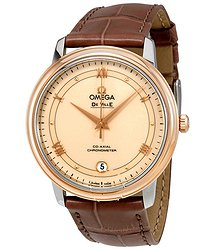 Omega De Ville Automatic Stainless Steel & Rose Gold Unisex Watch