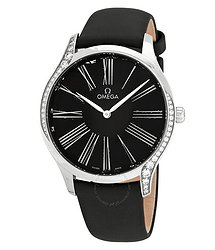 Omega De Ville Black Dial Ladies Watch