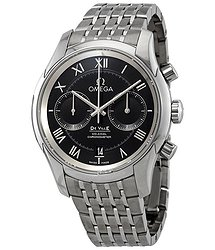Omega De Ville Co-Axial Chronograph Automatic Chronometer Black Dial Men's Watch