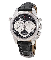 Omega De Ville Co-Axial Rattrapante Chronograph Automatic Grey Dial Men's Watch