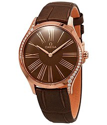 Omega De Ville Diamond Brown Dial Ladies Watch