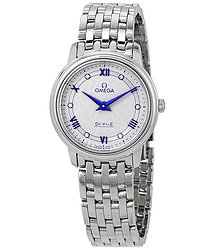 Omega De Ville Diamond Grey Dial Ladies Watch