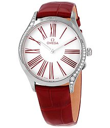 Omega De Ville Diamond White Dial Ladies Watch