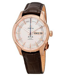 Omega De Ville Hour Vision 18kt Rose Gold Automatic Chronometer Silver Dial Men's Watch