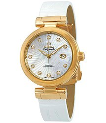 Omega De Ville Ladymatic Diamond Yellow Gold Ladies Watch