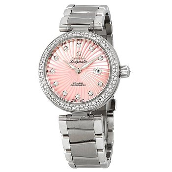 Купить часы Omega De Ville Ladymatic Pink Mother of Pearl Diamomd Dial Ladies Steel Watch  в ломбарде швейцарских часов