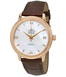 Omega De Ville Mother of Pearl Dial 18 Carat Rose Gold Case Automatic Ladies Watch