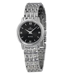 Omega De Ville Prestige Black Dial Ladies Watch 42410246001001