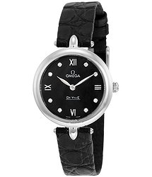 Omega De Ville Prestige Black Dial Ladies Watch