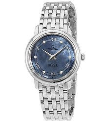 Omega De Ville Prestige Blue Mother of Pearl Ladies Watch