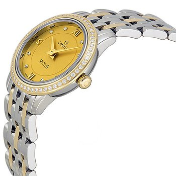 Купить часы Omega De Ville Prestige Champagne Diamond Dial Steel and Yellow Gold Ladies Watch 42425246058001  в ломбарде швейцарских часов
