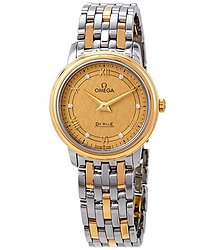 Omega De Ville Prestige Diamond Champagne Dial Ladies Watch