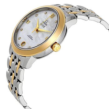 Купить часы Omega De Ville Prestige Mother of Pearl Diamond Dial Steel and 18K Yellow Gold Ladies Watch 42420332055002  в ломбарде швейцарских часов