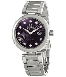 Omega De Ville Purple Diamond Dial Automatic Ladies Watch