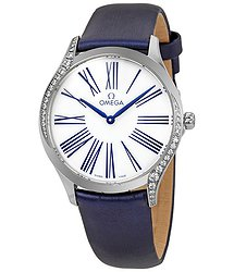 Omega De Ville White Dial Ladies Diamond Watch