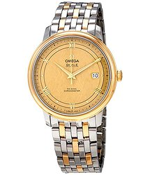 Omega De Ville Yellow Gold Dial Men's Watch
