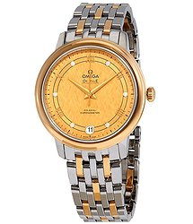 Omega De Ville Yellow Gold Diamond Dial Ladies Steel and 18kt Yellow Gold Watch