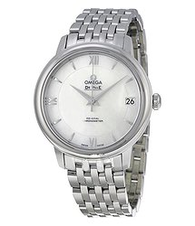 Omega DeVille Prestige Mother of Pearl Dial Stainless Steel Automatic Ladies Watch