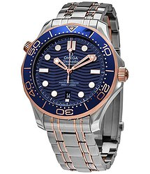 Omega Diver 300M Automatic Chronometer Blue Dial Men's Watch