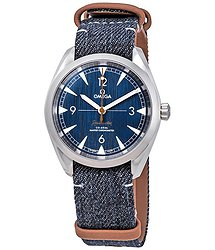 Omega Railmaster Automatic Blue Jeans Dial Men's Watch