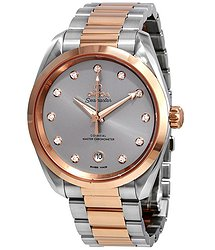 Omega Seamaster Aqua Terra Automatic Chronometer Diamond Grey Dial Watch