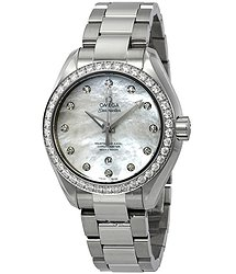 Omega Seamaster Aqua Terra Automatic Chronometer Diamond Ladies Watch