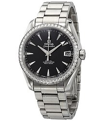Omega Seamaster Aqua Terra Automatic Diamond Black Dial Unisex Watch