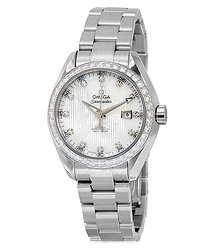 Omega Seamaster Aqua Terra Automatic White Mother of Pearl Dial Ladies Watch