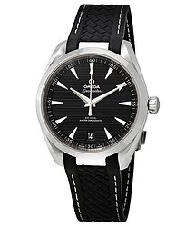 Omega Seamaster Aqua Terra Black Dial Automatic Men's Rubber Watch