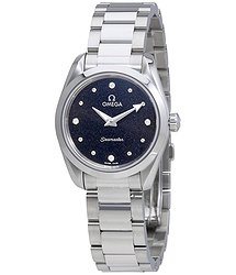 Omega Seamaster Aqua Terra Black Diamond Dial Ladies Watch