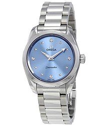 Omega Seamaster Aqua Terra Blue Diamond Dial Ladies Watch
