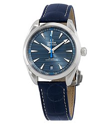 Omega Seamaster Aqua Terra Co-Axial Chronometer Automatic Blue Dial Men's Watch