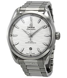 Omega Seamaster Aqua Terra Co-Axial Master Chronometer Automatic Silver Dial Men's Watch
