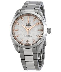 Omega Seamaster Aqua Terra Co-Axial Master Chronometer Opaline Silver Dial Automatic Ladies Watch