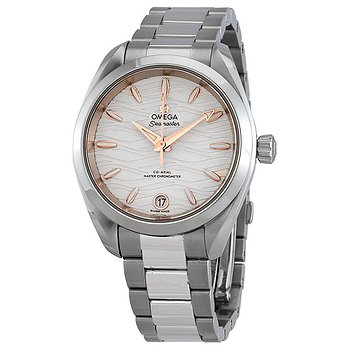 Купить часы Omega Seamaster Aqua Terra Co-Axial Master Chronometer Opaline Silver Dial Automatic Ladies Watch  в ломбарде швейцарских часов