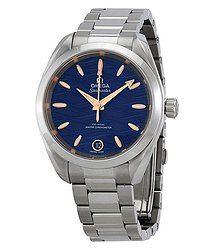 Omega Seamaster Aqua Terra Co-Axial Master Chronomter Automatic Blue Dial Ladies Watch