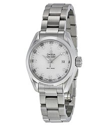 Omega Seamaster Aqua Terra Diamond Mother of Pearl Dial Ladies Watch