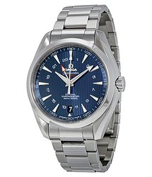 Omega Seamaster Aqua Terra GMT Automatic Blue Dial Men's Watch 23110432203001
