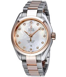 Omega Seamaster Aqua Terra Mother of Pearl Dial Ladies Watch